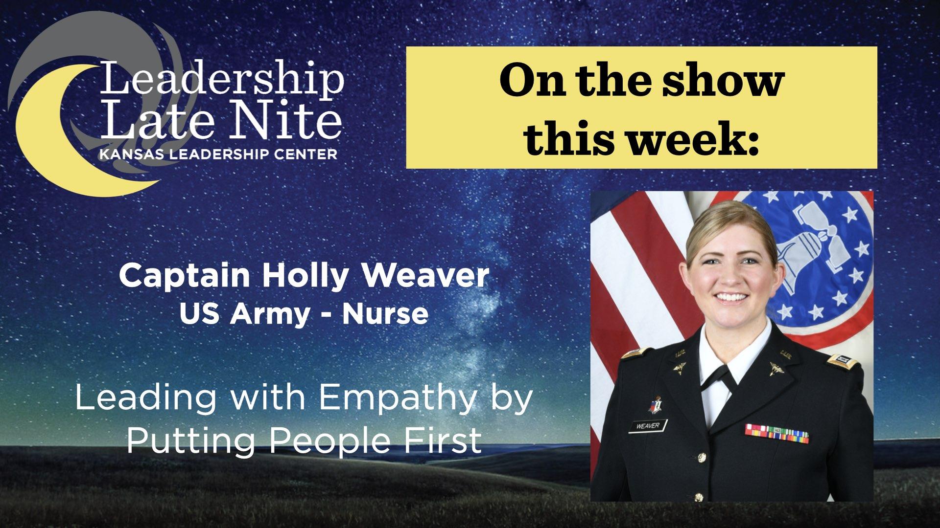 Holly Weaver on Leadership Late Nite