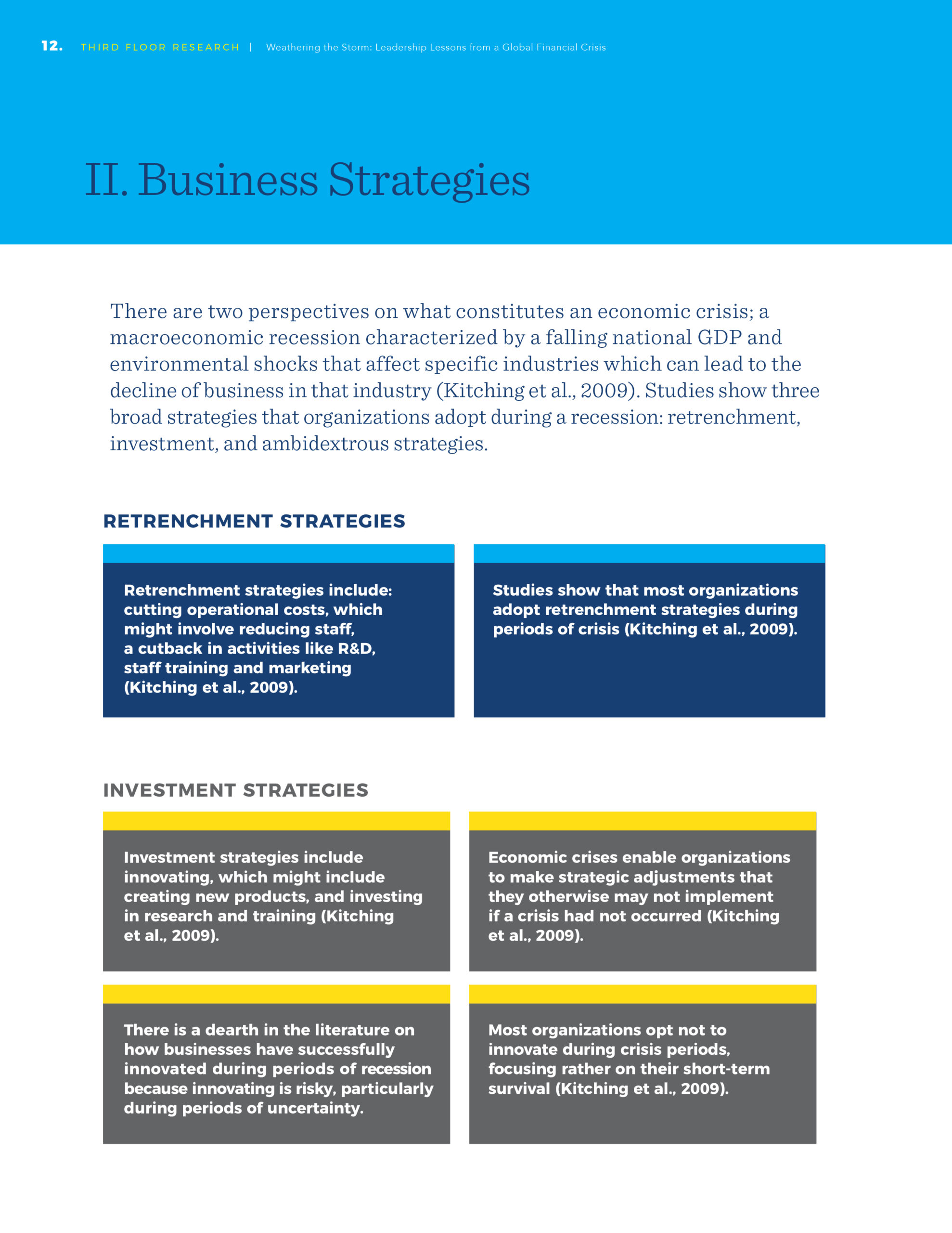 Weathering the Storm - Business Strategies Report Page