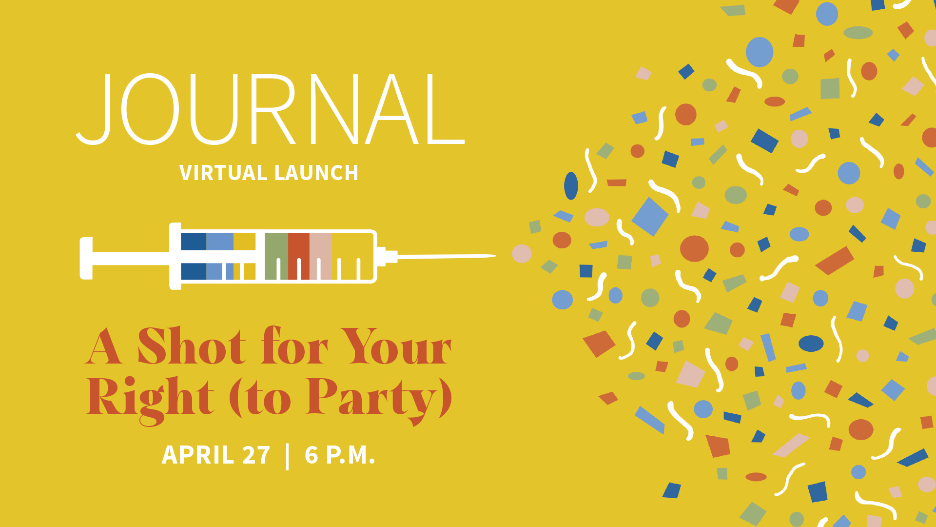 Vaccine Journal Launch Event Graphic