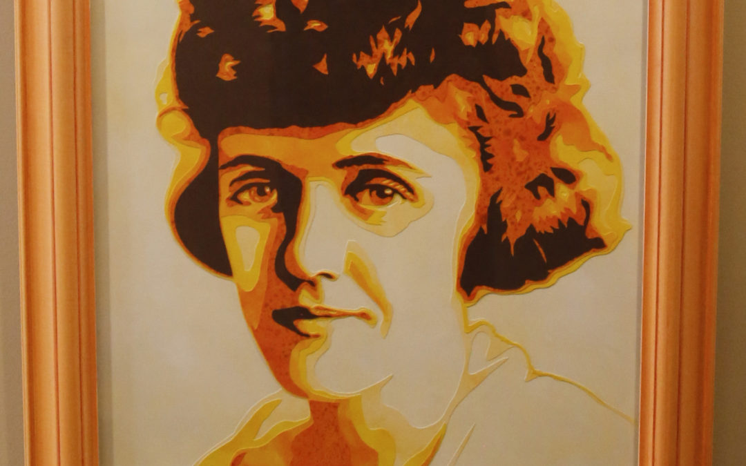 Clementine Paddleford Paper Cut Illustration